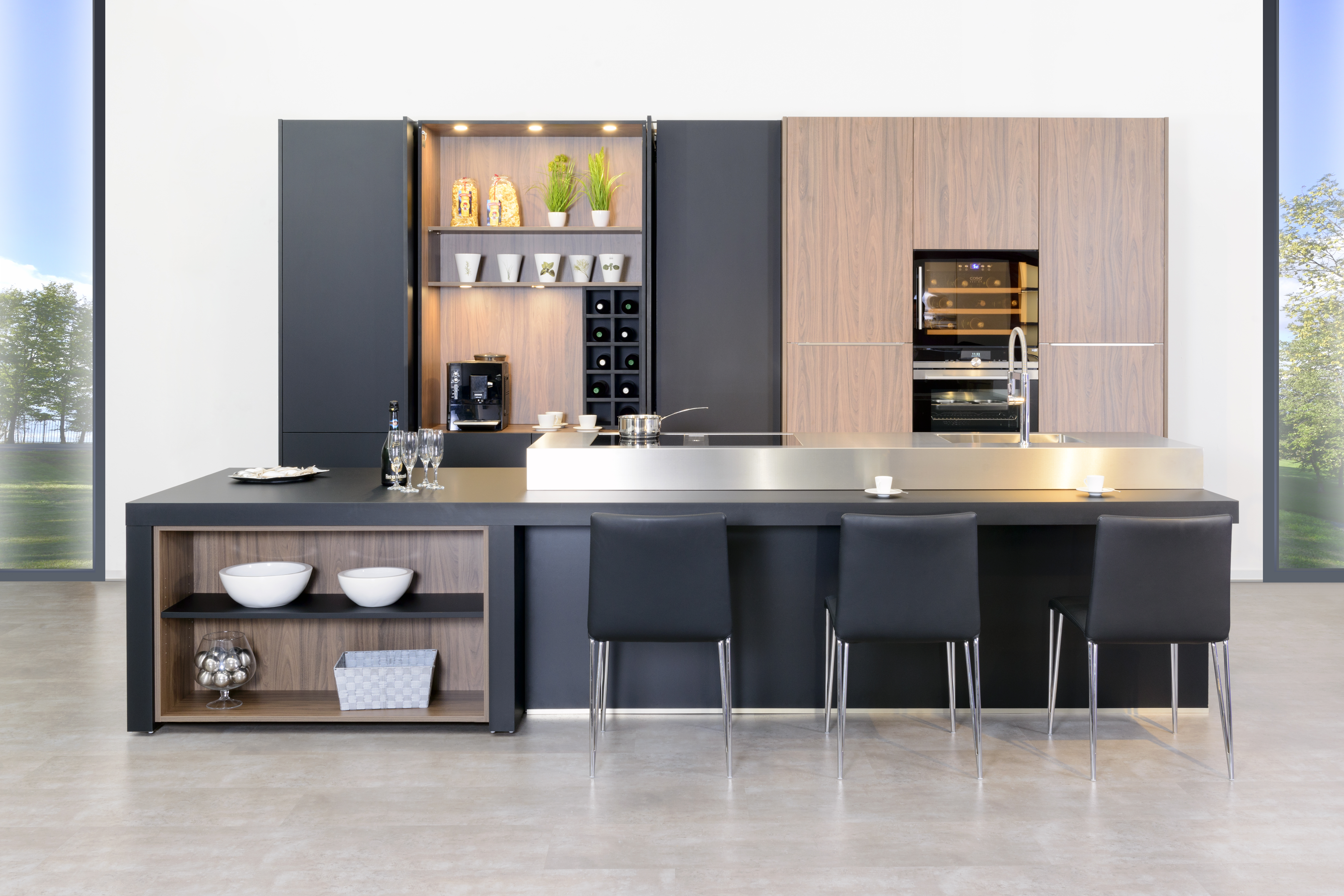 Modern Kitchen Cabinets Luxury Cabinetry Italian Style Kitchen With Pocket Door Ebay